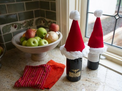 Santa Wine Toppers - Le's Craft with ModernMom - 12 Days of Christmas (Day 7)