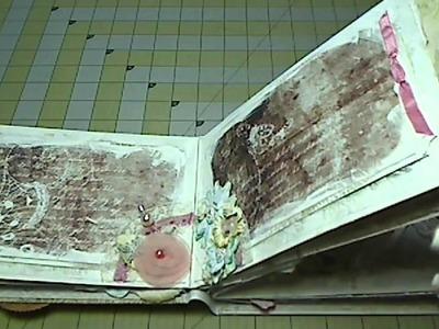Scrapbook Mini Album: Beloved, Shabby Chic Paper Bag Album