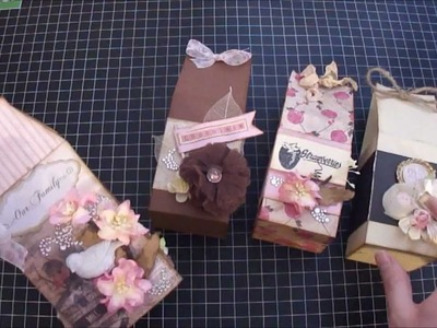 Scrapbook Mini Album - Milk Carton Shaped mini album and treat boxes - Start to Finish Tutorial