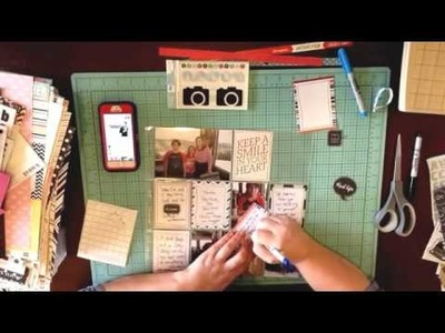 Scrapbook Process: Layout #22: Happy Campers. Project Life Card Pocket Page & Scrapbook Therapy