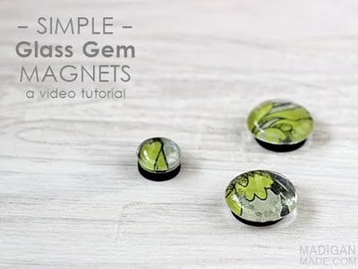 Simple DIY Glass Gem Magnets