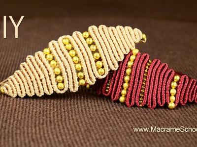 Snaky Macramé Eye Bracelet Tutorial ◀▶