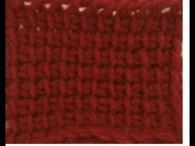 Tunisian Crochet - Afghan Stitch
