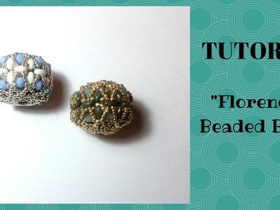 Tutorial perline: come realizzare una sfera rivestita (beaded bead)