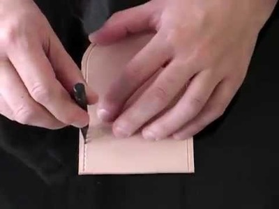 Using the leather craft pricking iron stitching chisel