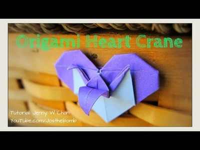 Valentine's Day Crafts - Origami Heart & Crane | How to Fold Crane & Heart - Paper Crafts
