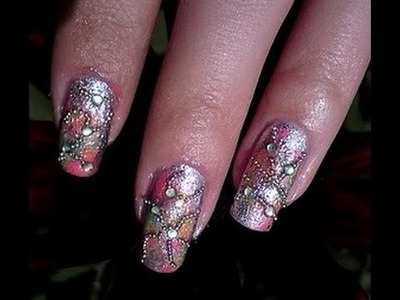 Beads- colorful  nail art design