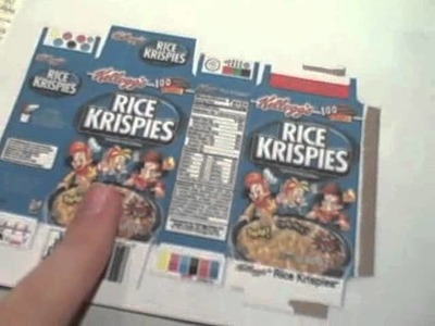 Cereal Box Craft.