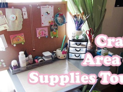 Craft Area & Supplies Tour! *UPDATED*