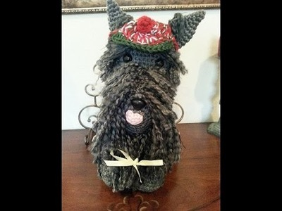 Crochet amigurumi scottish terrier dog DIY tutorial Part 1 of 2
