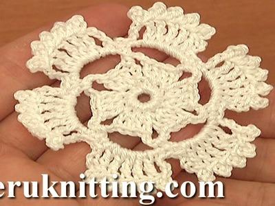 Crochet Floral Motif Tutorial 2 Part 1 of 2 Small Round Motif