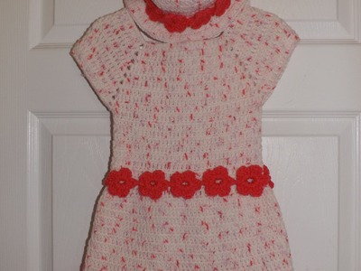 Crochet Girl's Dress From 3 to 6 Years Old For The Set With The Hat