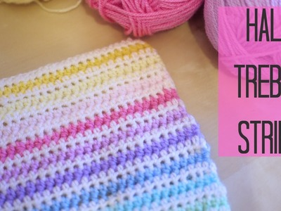 CROCHET: Half Treble crochet Stripe (Half double US)   Bella Coco