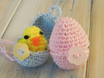 (crochet - part 2 of 2) How To Crochet a Mini Chick & Egg - Yarn Scrap Friday