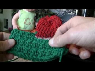 Crochet Santa & Elf Baby Booties