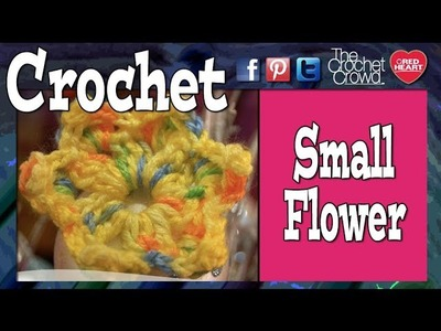 Crochet Small Picot Flower Tutorial