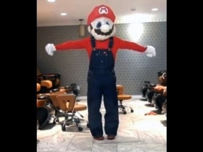 DIY: BIG head Mario Halloween costume under $5.