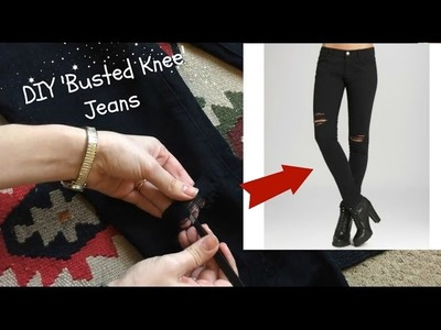 DIY 'Busted Knee' or Ripped Jeans Tutorial