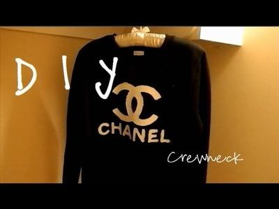 ♡ DIY: Chanel Inspired Crewneck Tutorial ♡