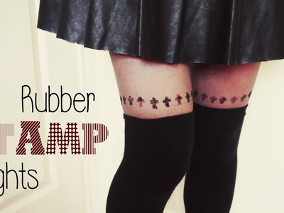 DIY ✂ Crosses.Hearts Rubber Stamp Tights