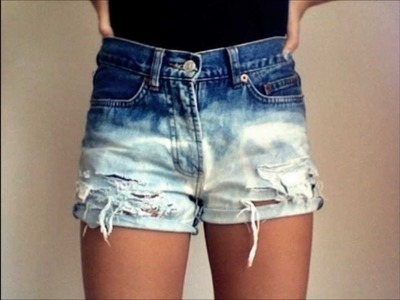 DIY║ EASY Ombre Shorts Tutorialツ
