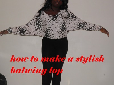 DIY Fashion♡ How To Make A Batwing Top