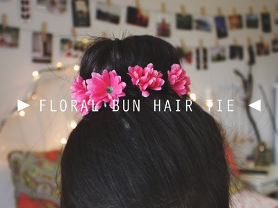 DIY Floral Bun Hair Tie.Crown