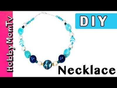 DIY How to Make a Necklace | Easy Fast Jewelry Tutorial by HobbyMomTV