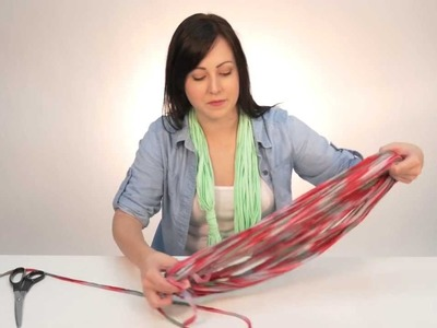 DIY- Make No Sew Infinity Scarves From Old T-Shirts!