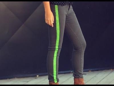 D.I.Y. Rag & Bone Neon Stripe Skinny Jeans | MTV FORA