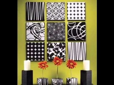 DIY Simple canvas art decorations ideas