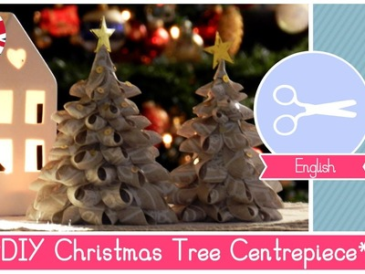 DIY Tutorial Christmas Centerpiece: Fabric Trees EASY, FUNNY and CHEAP
