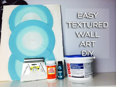 Drywall Mud Craftiness! Textured Canvas Art Using Joint Compound
