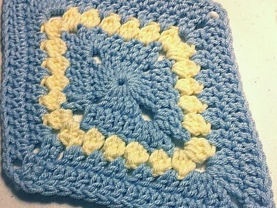 How To Crochet A Diamond Motif - Granny Diamond Left handed