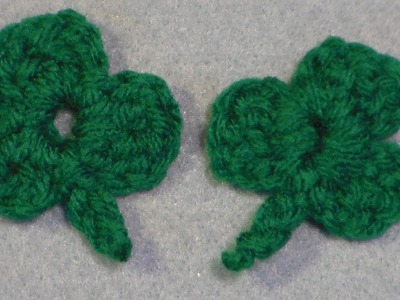 How to crochet a shamrock