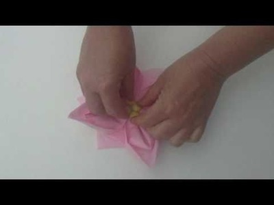 How to fold an origami cherry blossom flower napkin