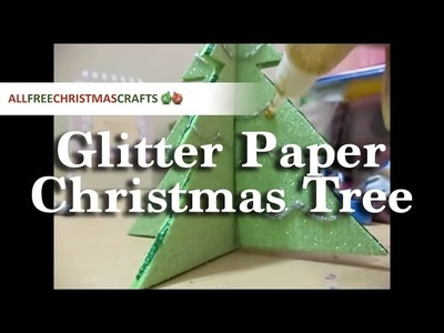 How to Make a Glitter Paper Christmas Tree