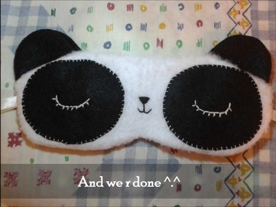 How to make a kawaii Panda Eye Mask Tutorial