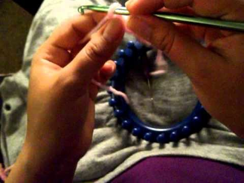 How to make baby booties using round loom 5 of 6