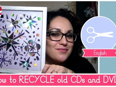 How to RECYCLE old CDs and DVDs: Christmas Snowflakes decorations Idea - DIY