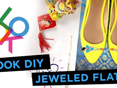Jeweled Statement Flats: LOOK DIY