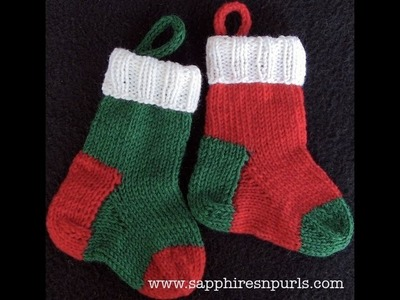 Knit a Mini Christmas Stocking - Pattern Help