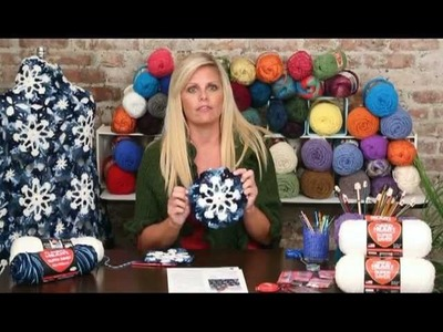 Learn to Crochet the Beautiful Dusty Snowflake Throw by Red Heart - Part 2