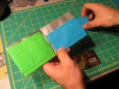 Mini Tutorial - Hidden pockets in Duct tape wallets