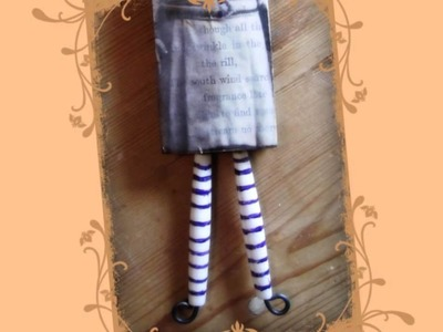 Mixed Media Bead & Wood Art Dolls Class by Laura Robberts at www.paperwhimsy.com