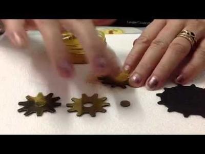 Old Metal Effect onto craft foam steampunk gears