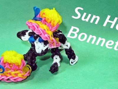 Rainbow Loom Charms: SUN HAT. BONNET: How To Design. Tutorial (DIY Mommy)