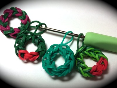 Rubber Band Wreath Charm Without the Rainbow Loom - Uses Just a Crochet Hook!