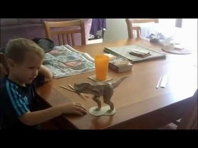 T-rex Dinosaur Papercraft Impresses 4 year old