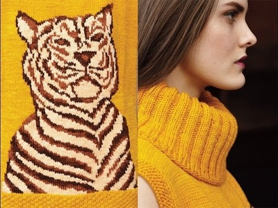 #21 Tiger Pullover, Vogue Knitting Early Fall 2013